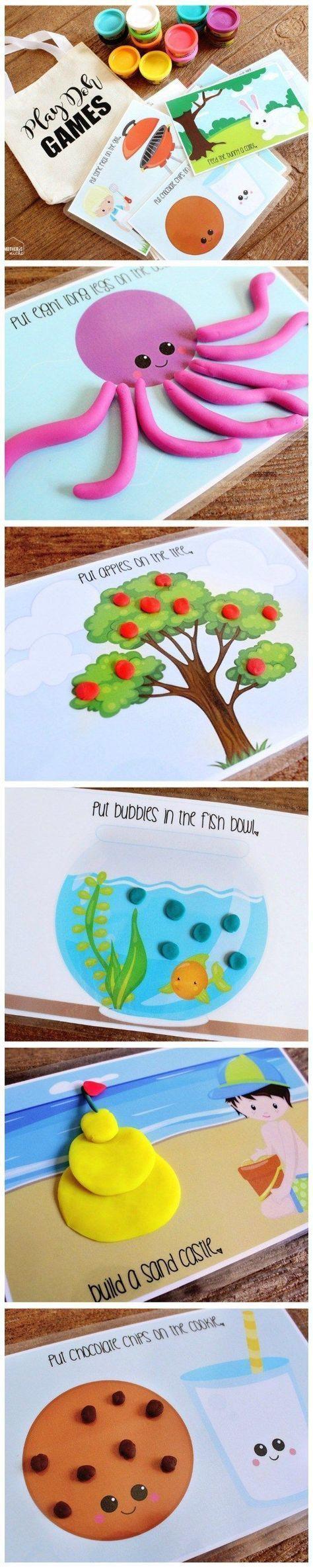 这些玩面团的活动垫对于幼儿和学龄前儿童来说非常可爱,非常有趣!印在半张纸上,制作完美的忙碌包包!
