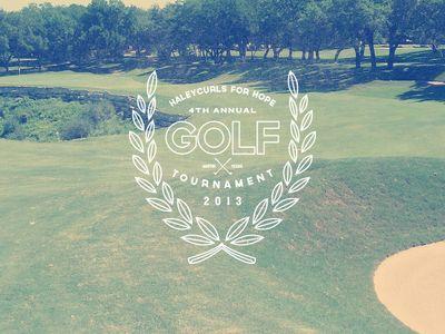 Haleycurls的标志概念为希望的每年高尔夫球比赛。希望做一些可以适用于所有媒体制作和广告的清洁工作。