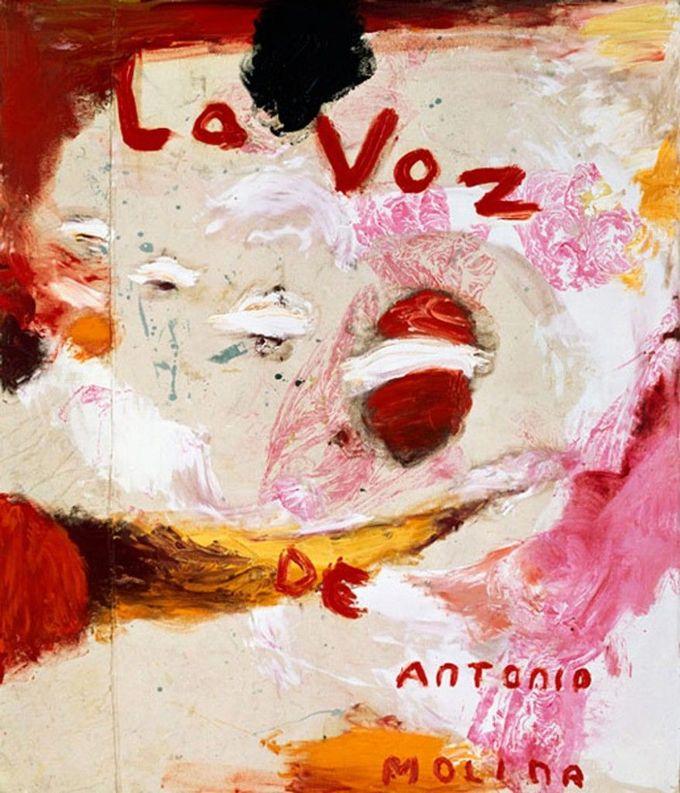 Julian Schnabel » La Voz de Antonio Molina (Orange Painting)