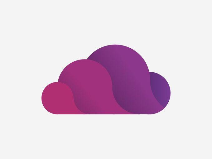 基于云的加速器公司获得批准的徽标。