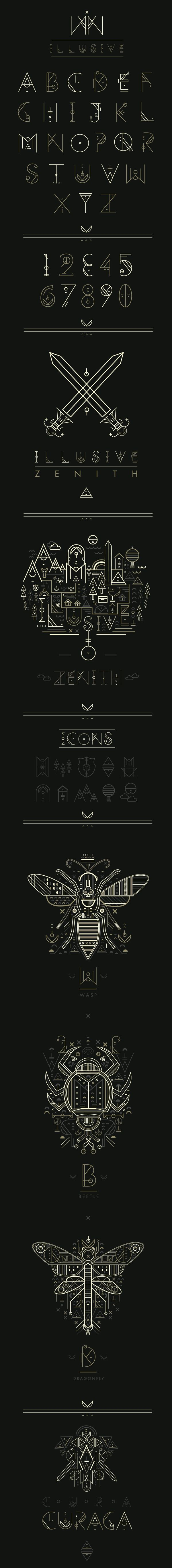 Design by studiosap, via Behance   #typography #design #alphabet The shapes and lines really go together and I love everything the typeface offers.
