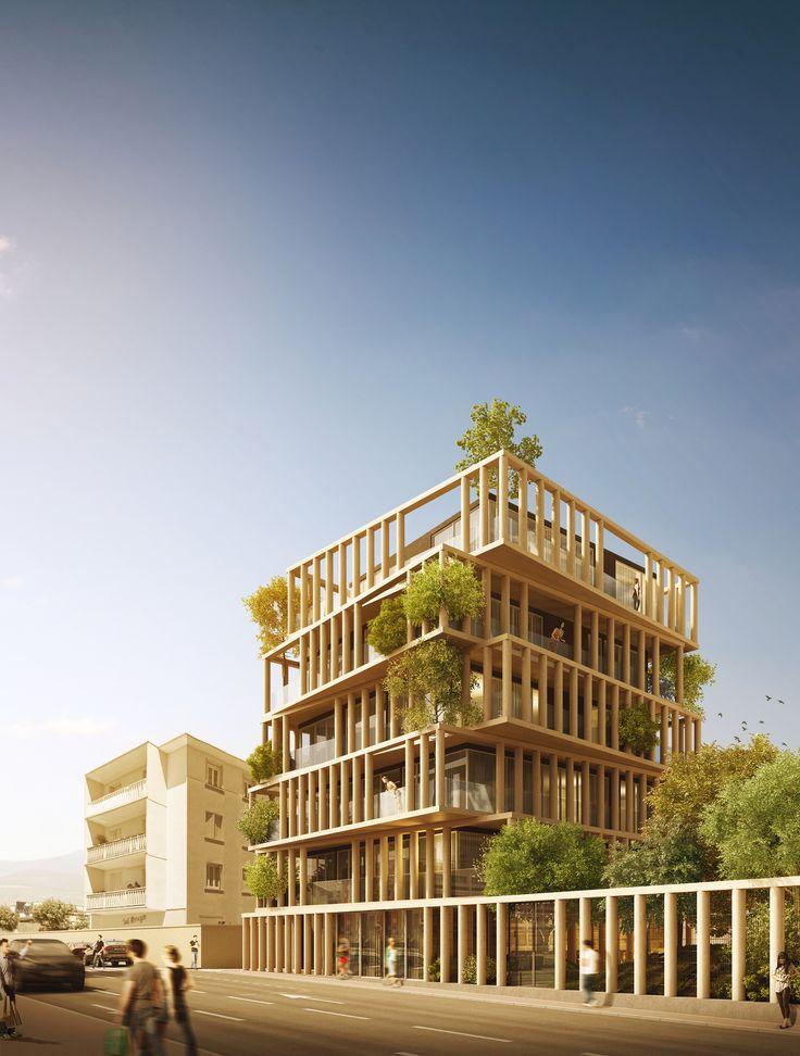"""URBAN AGENCY的豪华公寓设计""""扭曲""""法国规划法"""