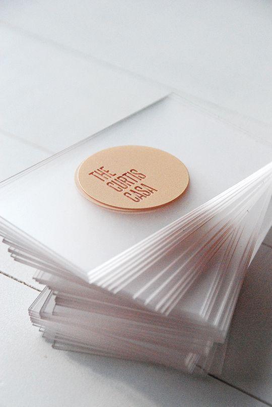 Such a sleek business card design: Acrylic Business Cards, Awards Atlanta Company
