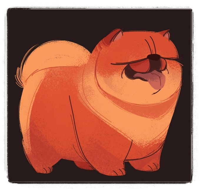 DAILY CAT DRAWINGS 240: Chow Chow (Dog Week, day 7) That's all for the dog drawings, it's been fun!