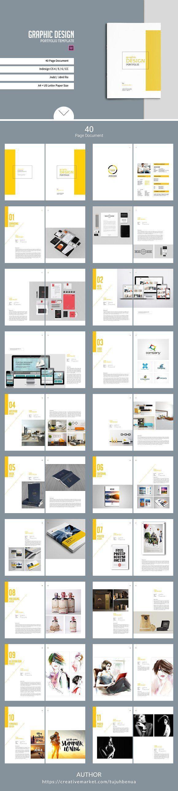 Graphic Design Portfolio Template  @creativework247