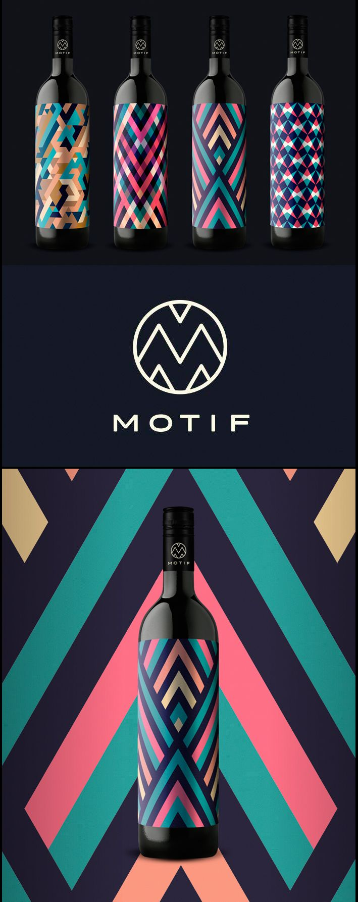 Motif Wine Label (packaging, labeling, design)