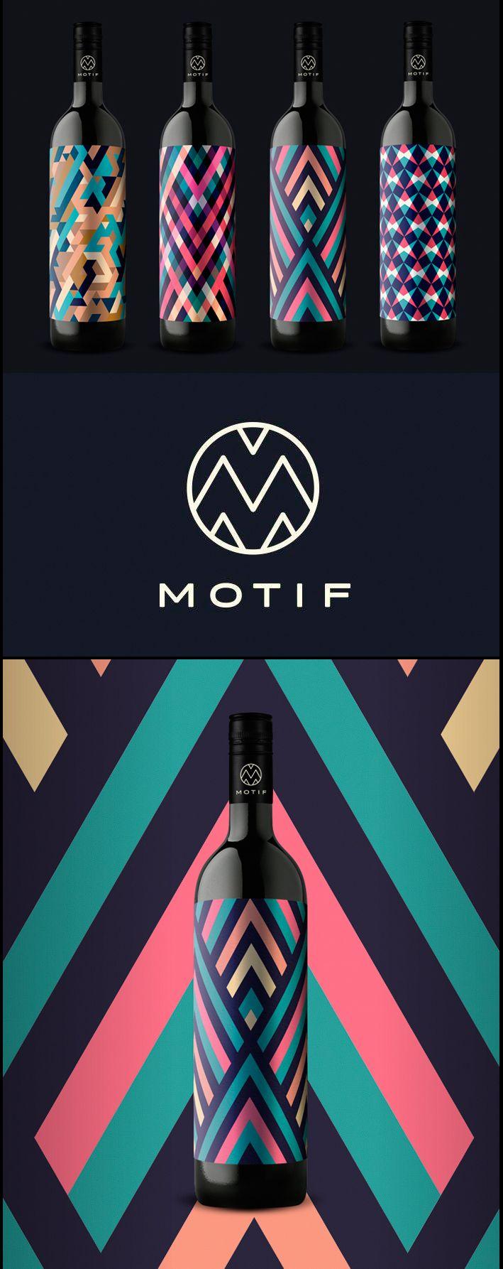 Motif wine packaging. Wonder if it tastes as great as it looks.
