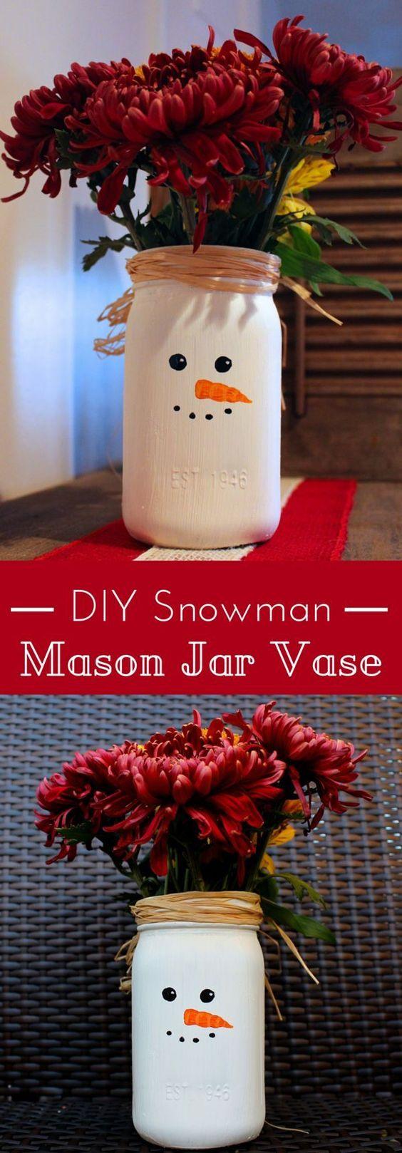 大家好!这是本月的第三个星期一,这意味着它是梅森罐子星期一。本月的主题是圣诞节,我为你制作了一个简单的雪人梅森罐瓶。