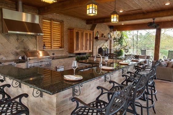 18个后院的户外厨房想法 -  MeCraftsman