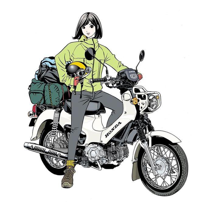 Jan.2018 #illustration #artwork #manga #bandedessinee #comicart #honda #hondacrosscub #motorcycle