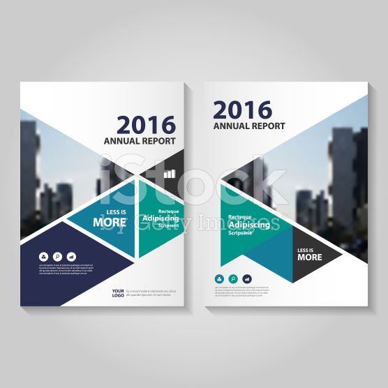 Triangle green blue Vector annual report Leaflet Brochure Flyer template royalty-free stock vector art