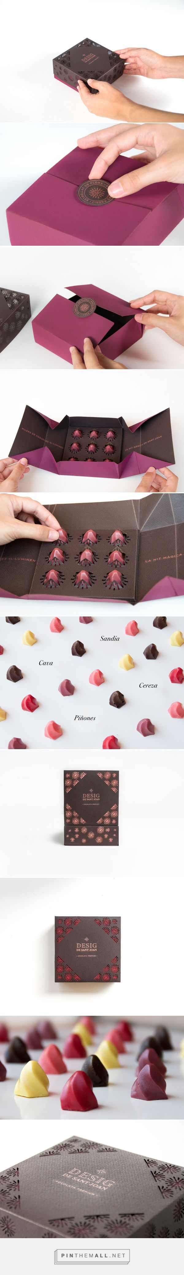 Branding and packaging for Desig de Sant Joan on Behance curated by Packaging Diva PD. Wow, look at this die-cut candy packaging. design. Yummy.