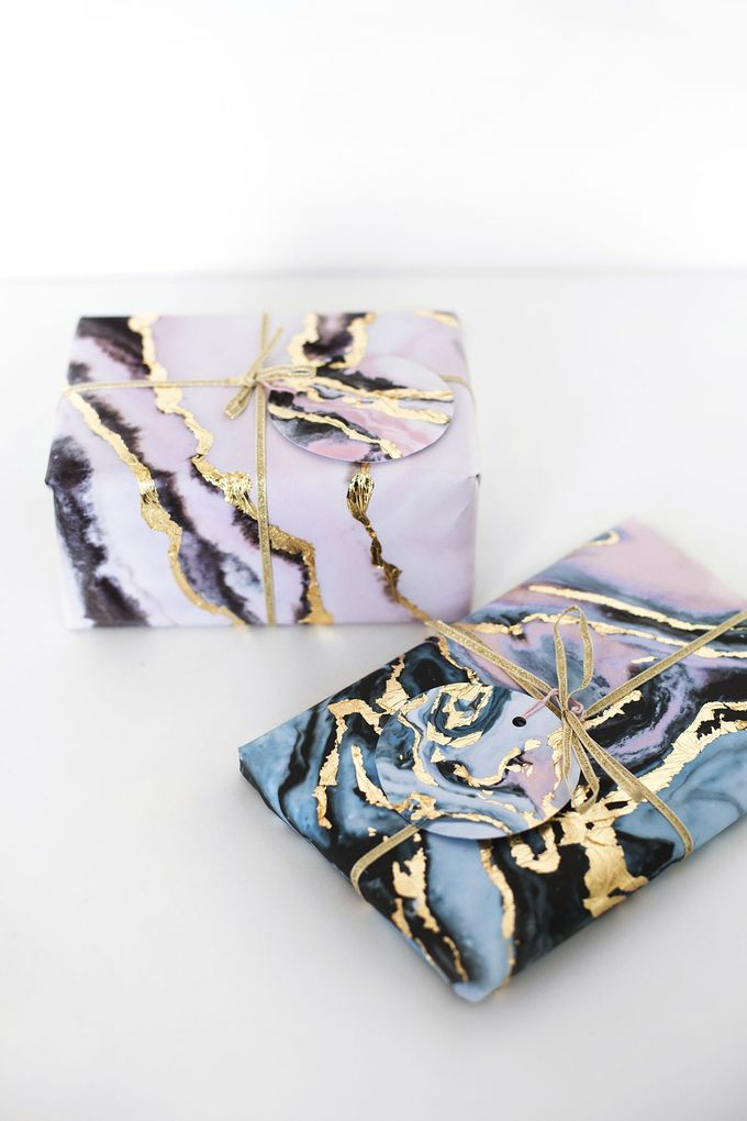 圣诞节与透明胶带的缎带包装想法