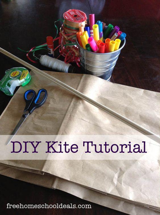如何制作纸袋风筝。一步一步的指导如何创建一个你的孩子会喜欢的风筝。