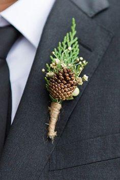 35 Pinecones为您的冬天婚礼的婚礼想法