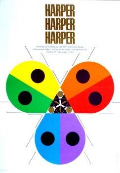 Charley Harper - Harper Harper Harper 1977 exhibition poster