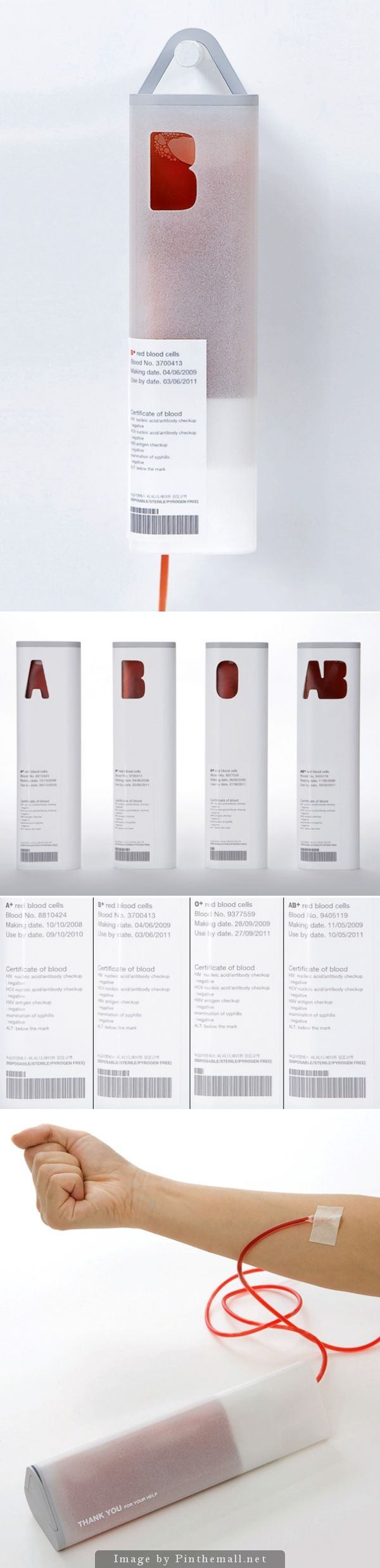Pretty yet functional blood transfusion and collection #packaging. PD