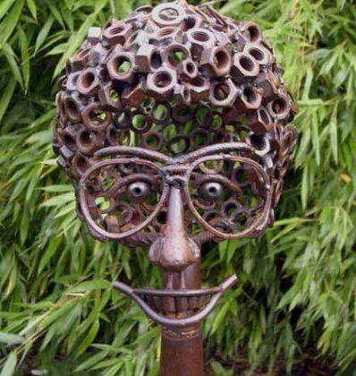 Metal Yard Sculptures   Yard Art : Diedel Klöver : Atze - heavy metal  Kunst aus altem Eisen