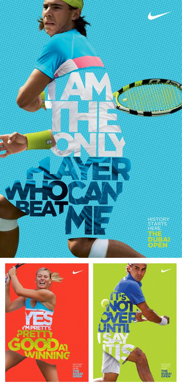 Nike Tennis posters: The Dubai Open By Leo Rosa Borges.