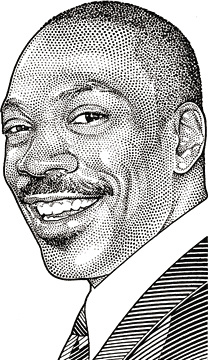 Wall Street Journal Hedcuts by Randy Glass, Eddy Murphy