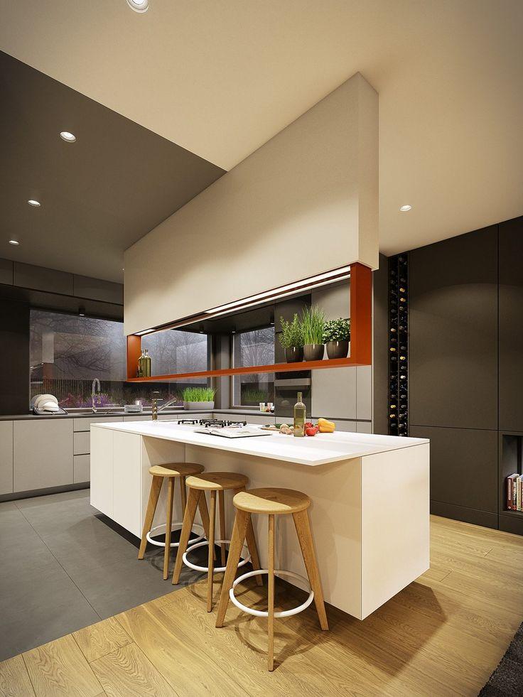 华丽的现代家居与秋季色调装饰