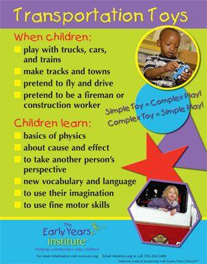早期儿童研究所分享孩子们在玩交通玩具时学到的东西!