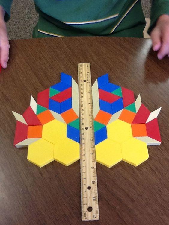 高年级或需要挑战的孩子 - 几何单元和对称活动要复杂得多