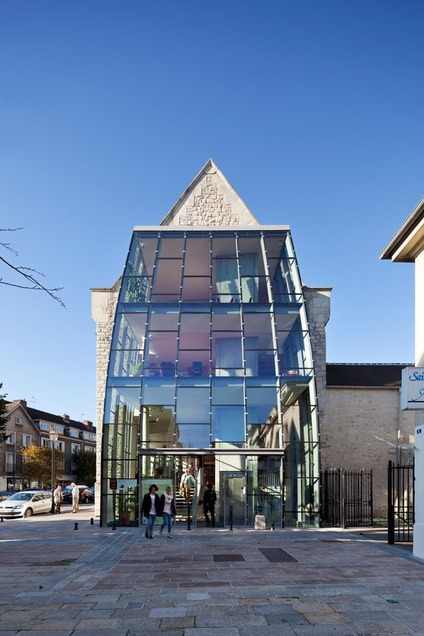 Saint Corneille Library   Architecture Patrick Mauger   Archinect