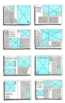 Top right has the perfect amount of white space to shake things up and keep them interesting.