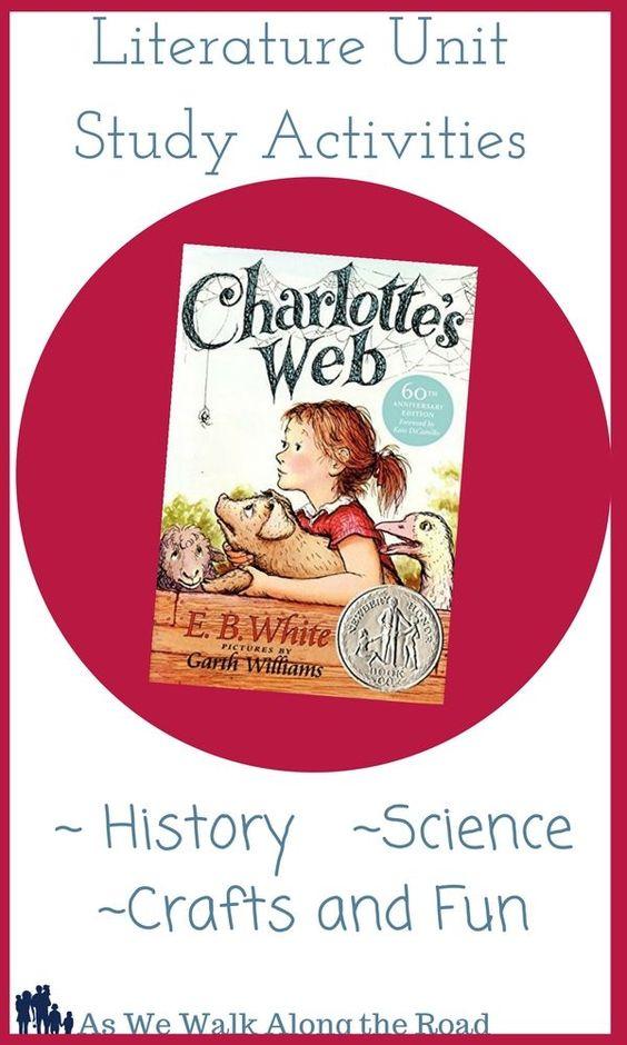 Literature Unit Ideas for Charlotte's Web by E.B. White (31 Day of Literature Unit Study Ideas)