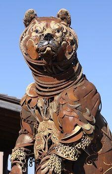 John Lopez Cowboy and Western Art Bronzes, Scrap Iron Sculpture : South Dakota Artist