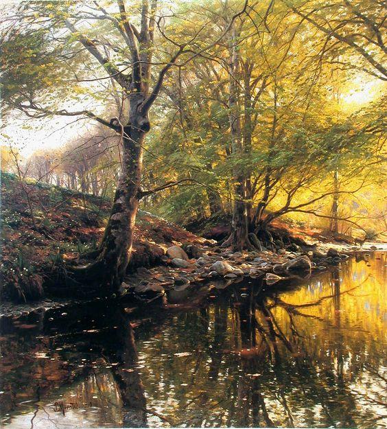 PEDER MORK MONSTED,1859  -  1941年,是一位丹麦风景画家,以其浪漫,诗意的自然绘画而闻名。他描绘了景观的宏伟和纪念性方面,...