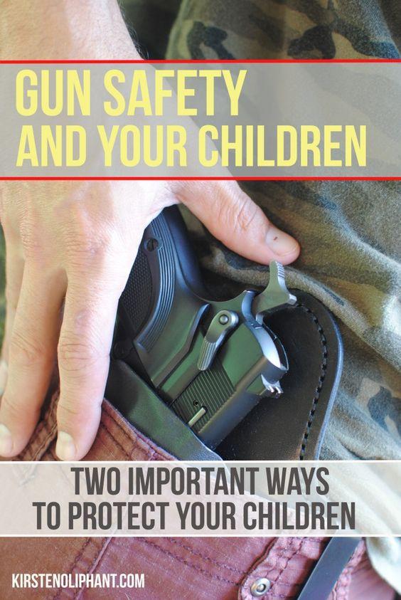 考虑枪支安全和儿童的两个关键点。