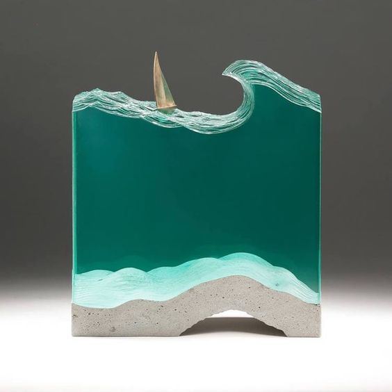 Translucent Glass Ocean Sculptures by Ben Young