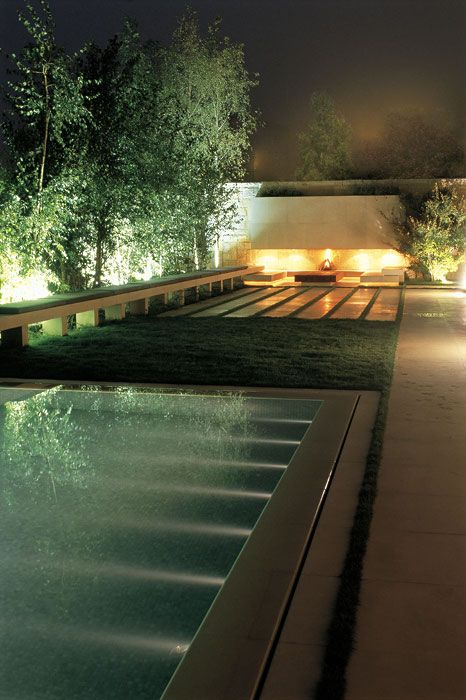 Pool, grass, paved with walled end ASLA 2008 Professional Awards | Bassil Mountain Escape in Faqra, Lebanon by Vladimir Djurovic Landscape Architecture