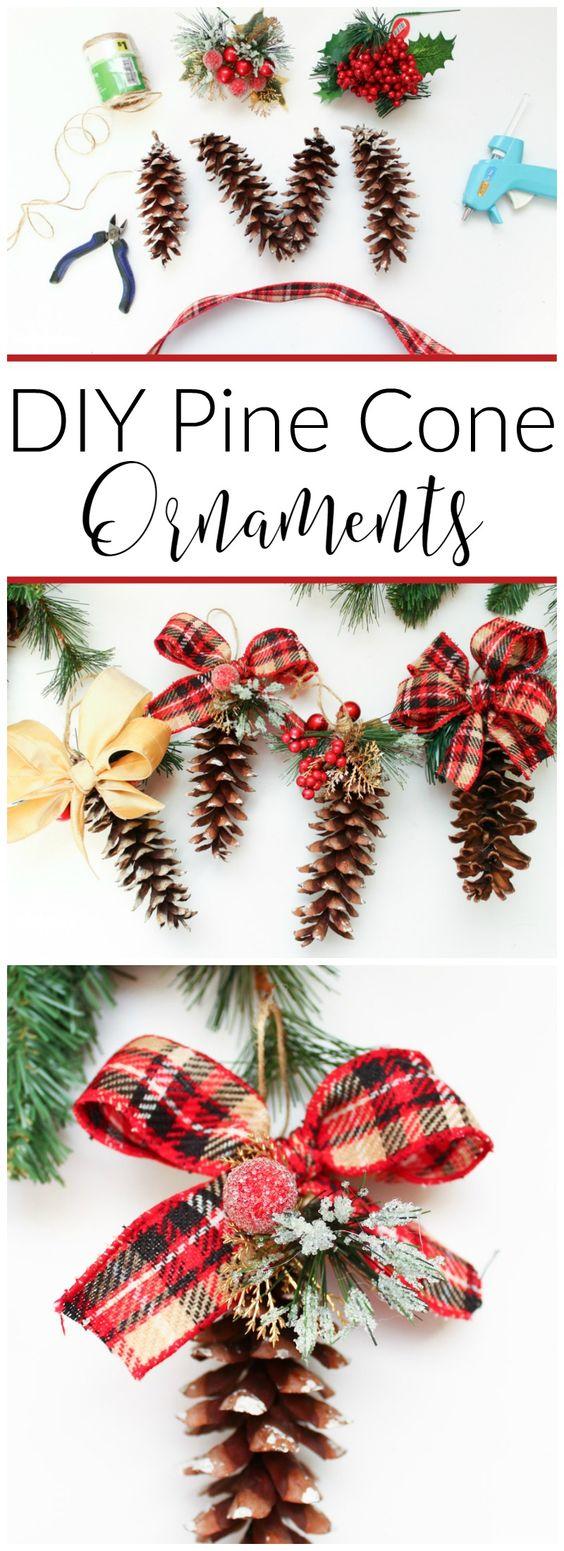 只需几个用品,就可以将常规松果变成这些神话般的DIY松果饰品,为您的圣诞树增添质朴气息。