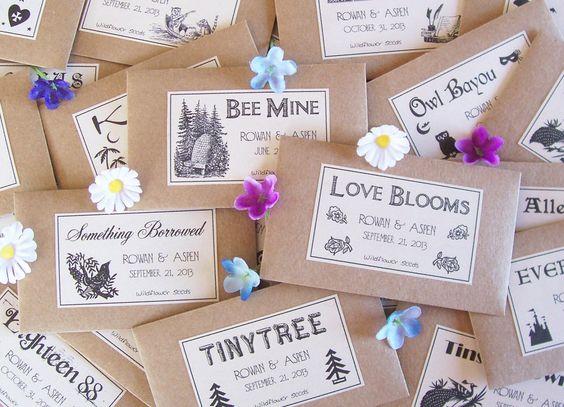 许多人将种子作为婚礼礼品(100包150美元),因为它们不仅价格实惠,而且还是一种环保手势。但是,保持