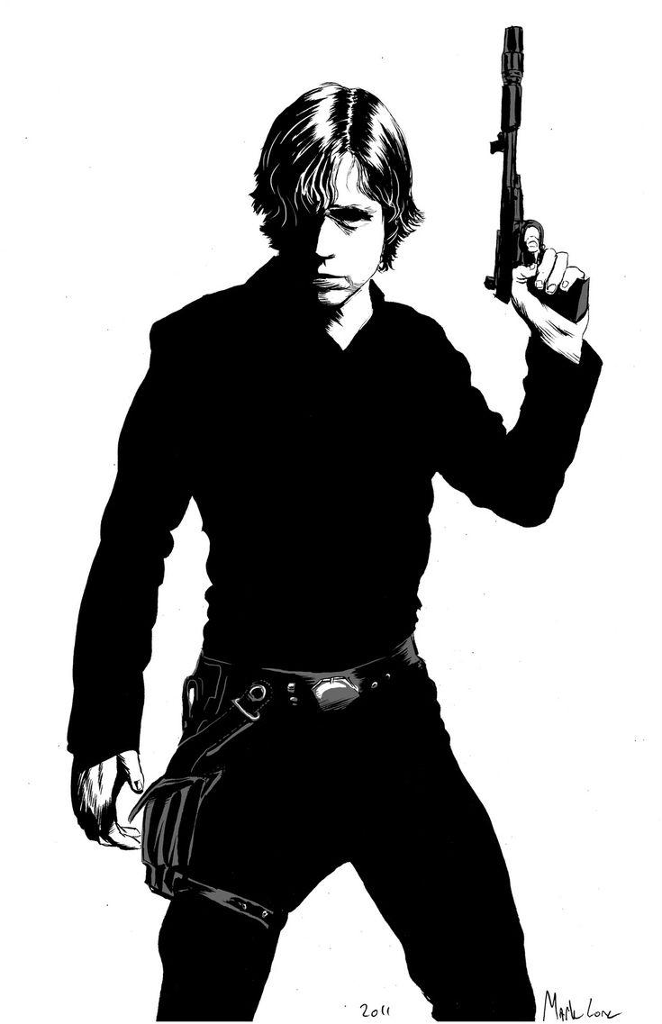 Luke Skywalker by Mark Lone.