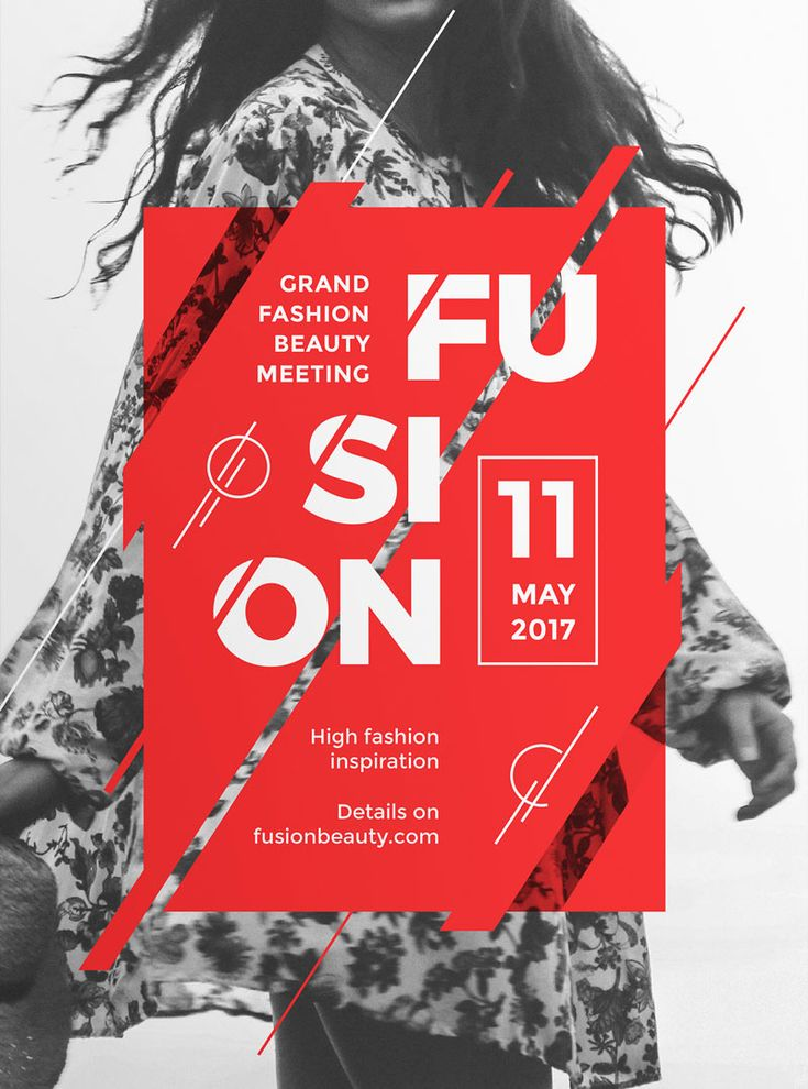 Fusion – Modern and Creative Poster