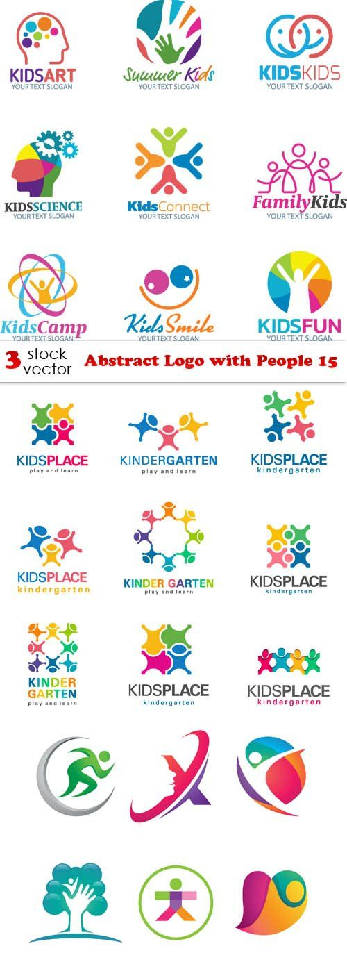 Vectors - Abstract Logo with People 15