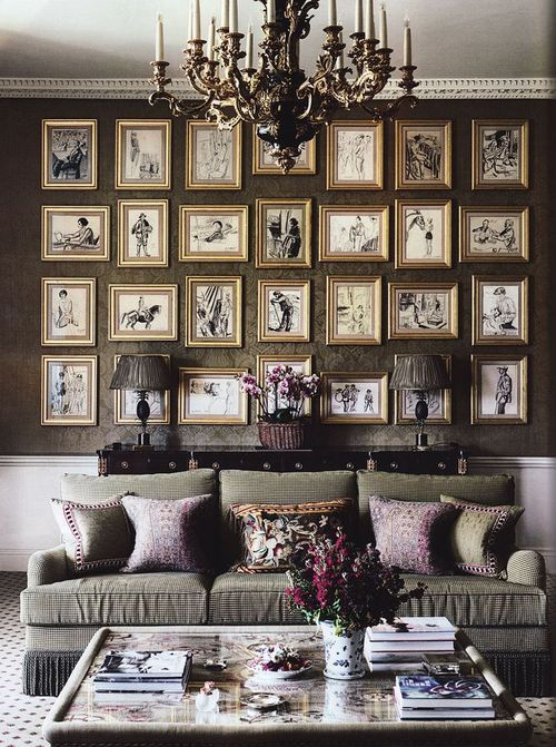 画廊墙总是一种创造性且相对简单的利用墙面空间的方式。