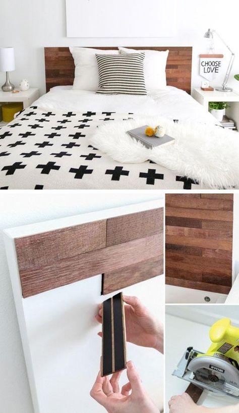 点击18个DIY床头板创意|关于预算的DIY卧室装饰想法