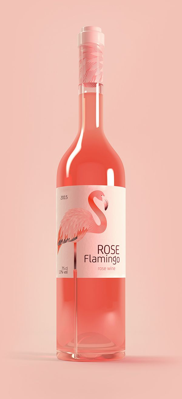 Rose Flamingo Wine on Behance