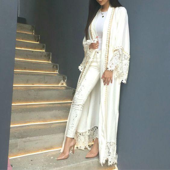 长款白色蕾丝和服装 - 中性街头风格服装http://www.justtrendygirls.com/neutral-street-style-outfits/