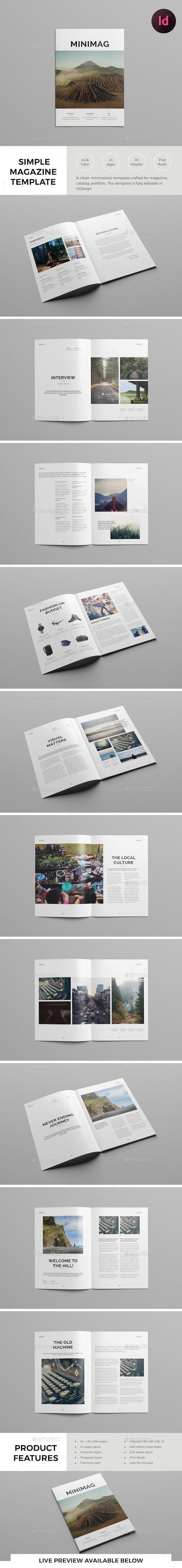 black and white, catalog, clean, fashion, indesign magazine template, indesign template, layout, lifestyle, lookbook, magazine, magazine template, modern, portfolio, print, professional, simple, simple magazine, template, trendy, typography, whitespace, print-templates, magazines Other Magazines Item Overview A clean, simple, minimalistic magazine template that is suitable for magazines, catalogs, portfolio etc. Detail description of this item is given below. Features A4 & US Letter. 300 DP...