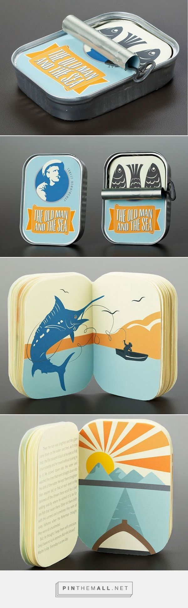 Brilliant Tin Can Packaging For Hemingway's Classic 'The Old Man And The Sea'