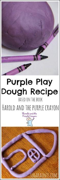 用破碎的蜡笔碎片制作自己的蜡笔面团。这项活动与Harold和The Purple Crayon一起出版,这是学前读书俱乐部系列的一部分。