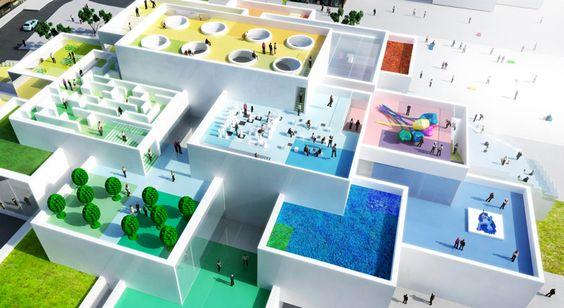 first bricks laid on BIG-designed LEGO house in denmark