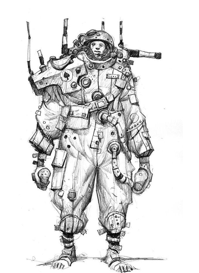 SCI FI illustrator Ian McQUE