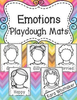 """情绪活动:这个包包括8种情绪的游戏垫(每个情绪有一个男孩和一个女孩),还有6个""""有时我觉得_____""""垫子(见缩略图)总共22个垫子。只需打印和层压(或使用页面保护器),您就可以进行有趣的动手情绪意识活动。"""